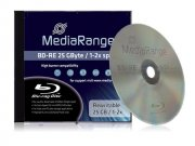 Bluray MediaRange 25GB  1pcs BD-RE JewelCase 2x