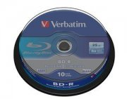 Bluray Verbatim 25GB 10pcs Spindel 6x White Blue Surface
