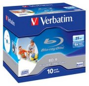 Bluray Verbatim 25GB 10pcs  printable Jew.C 6x sing. BD-R