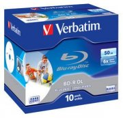 Bluray Verbatim 50GB 10pcs Jew.C 6x Wide printable No ID