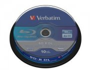Bluray Verbatim 50GB 10pcs Spindel 6x White Blue