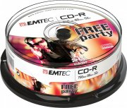 CD-R  Emtec 700MB  25pcs 52x  Cake NEW PACKAGING