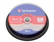 Bluray Verbatim 25GB 10pcs BD-RE Spin 2x single layer